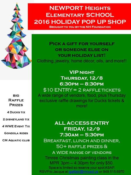 Save The Date! NHES Foundations Holiday Pop Up Shop is Coming